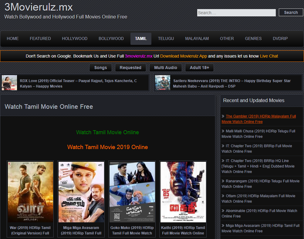 Watch Tamil Movie Online Free _ Movierulz Website