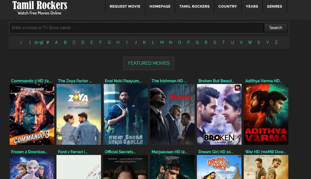 Tamilrockers -download latest movies